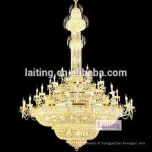 Lumière moderne de lustre et grand lustre en cristal de Reidential pour la partie d'événement