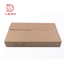 New custom recyclable flat corrugated carton box packaging