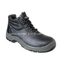 Chaussure de travail mi-coupe de base en cuir (HQ01006)