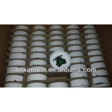 Haonai 2014bulk white custom printing ceramic ashtray for sale