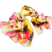 Lenço de seda do lenço da cópia de Digitas com impressão da flor