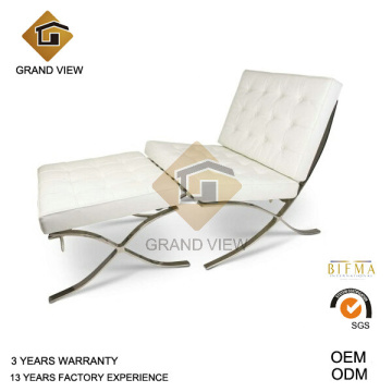 Bureau de Barcelone de cuir blanc chaise (GV-BC01) en attente