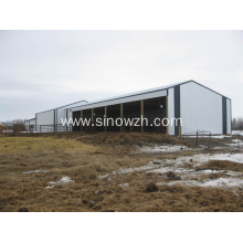 Easy install steel structure poultry farm cowshed