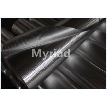 Fermeture à chaud d'une feuille d'aluminium argentée pour isolation et protection