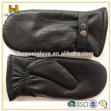 Véritable gant en peau de mouton mitaines en cuir pour hommes