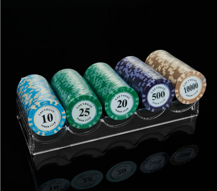 Acrylic Poker Chip Tray 5 Slots
