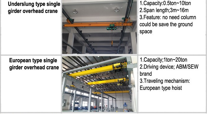 single beam electric crane