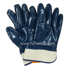 Gant de sécurité au travail entièrement moulé à l'huile de nitrile (HCN450)