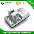 Cargador de batería recargable de GLE-802 AAA AA NICD NIMH 2pcs 9V