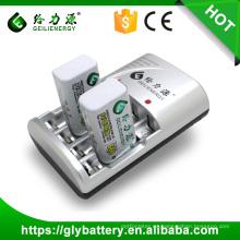 GEILIENERGY Cargador de batería / GLE-802 Cargador AA AAA 9V Batería recargable Pantalla LED Controles de temporizador Cargador de batería automático