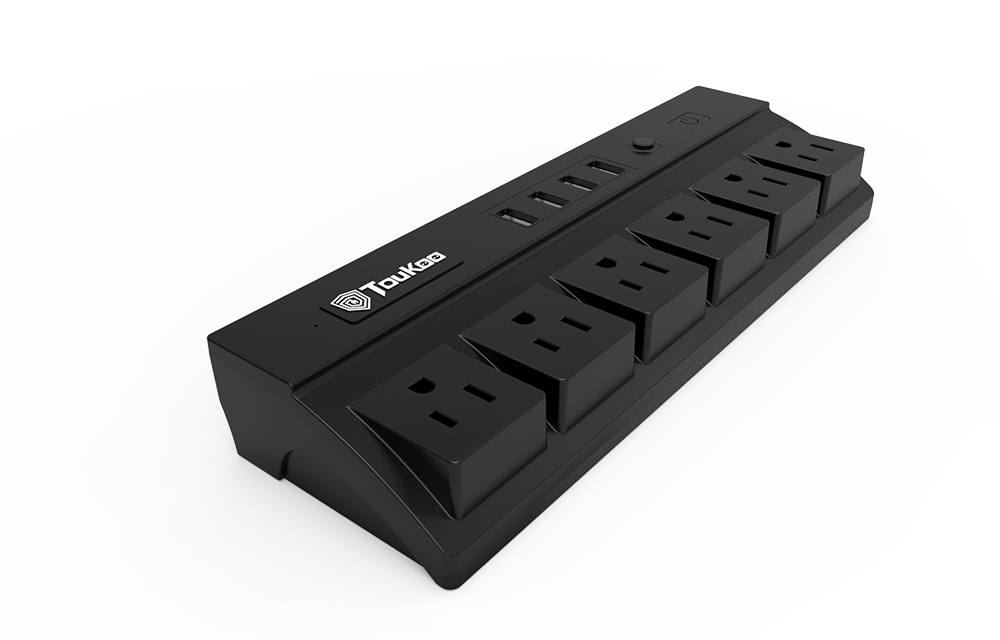 Power Strip 4 USB Charger 6-outlet