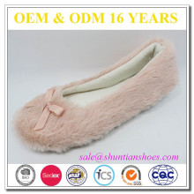 Charming Foldable Fuzzy Warm Ballerina Flats Slippers