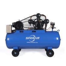 Proveedor de la fábrica compresor de aire industrial accionado por correa del pistón grande de 150 litros 3 pistones Italia con la rueda
