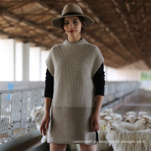 2017 новый стиль Cap рукавом женщин 100% Кашемировый свитер