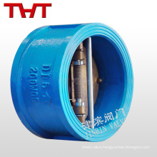 ductile iron spring loaded dual plate butterfly one way check valve air
