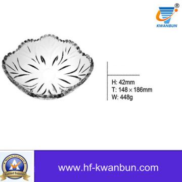 Обеденные тарелки Квадратные стеклянные тарелки Посуда Kb-Hn0388
