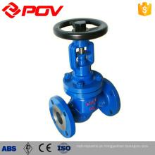 válvula de globo manual de aço inoxidável