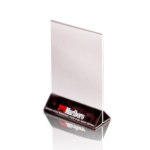 PMMA Material Leaflet Display Holder, Acrylic Poster Display Stands