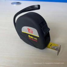 Ruban d'acier à coque en plastique velours noir