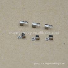 BXG034 Haute qualité en gros à bas prix Accessoire à cordon en acier inoxydable Bijoux trouvés et composants