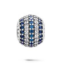 La joyería de la manera rebordea 925 granos de plata con la joyería de CZ