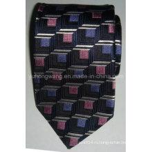 Модные мужские шелковые тканые жаккардовые галстуки