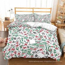 3D Printed Bedding Set, Suitable for Duvet Cover Set, Mahjong