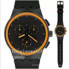 Relógio do esporte dos homens do silicone do relógio do esporte de Multi-Fonction da qualidade (HL-CD051)