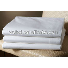 100% polyester microfiber white hotel bed sheet flat sheet