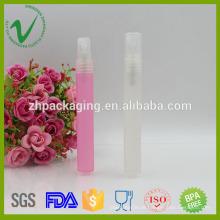 Embalagem de perfume de PP garrafa de borracha de plástico descartavel vazia de 10ml