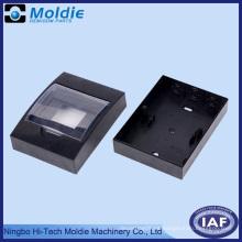 ABS caja eléctrica negra con cubierta ajustable