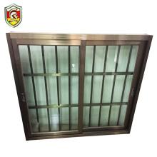 India modern style cheap price of glass sliding window house used aluminium window frame design