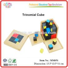 montessori educational toys Trinomial Cube