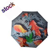 New Design Plant Full Printed Custom Pattern Umbrella
