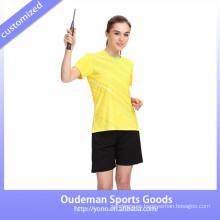 El bádminton sublimado 2017 de las mujeres uniformes del bádminton de alta calidad fijó el uniforme barato del bádminton