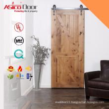 ASICO Solid Wood Interior Sliding Trailer Barn Door For Interior