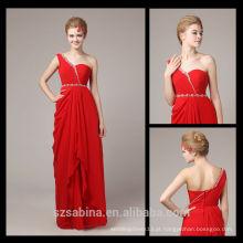 8075 Um ombro de chiffon vestidos de noite turcos vestidos de noite barato na China para mulheres grávidas