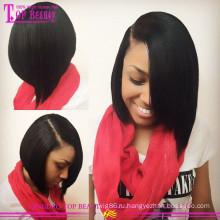 Высокое качество оптовая продажа Боб стиль 100% бразильский человеческих волос короткий Боб кружева перед парик