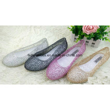Lady Latest High Quality Crystal Jelly Sandals (FF614-1)