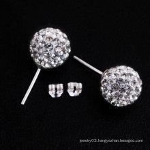 Fashion 925 Sterling Silver Shamballa Earrings,Hoop Earrings BWE20
