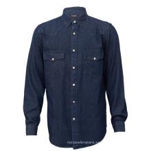 Camisa de jeans para hombre de algodón de moda de alta calidad