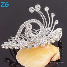 Pente de cristal de alta qualidade do cabelo nupcial, pentes baratos do cabelo, pente da correia do cabelo do casamento