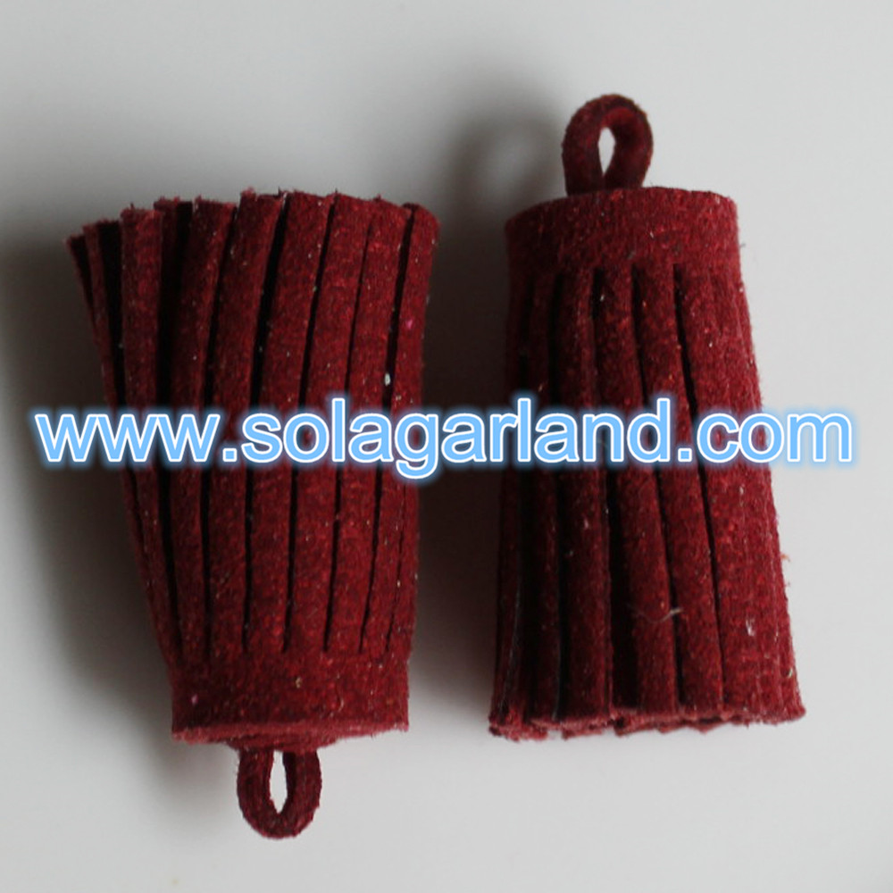 Imitation Suede Leather Tassel