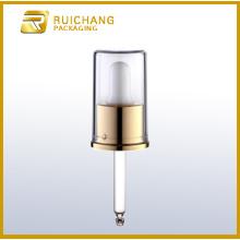 Aluminium cosmetic dropper for bottles