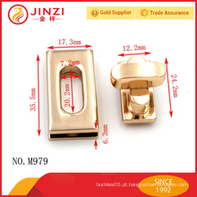 Jinzi moda metal bloqueio conjunto de duas partes saco