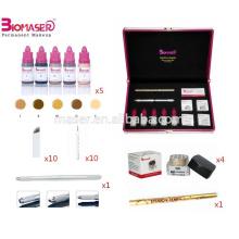Kit de microbillette et sourcils chauds, stylo à papier semi-micro sur 3 en 1 avec trois têtes différentes, pigment microblading