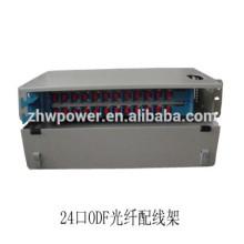 1U 24 port Drawer Type Fiber Optic Patch Panel ODF with sc lc st fc fiber optic adapter