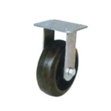 Roulette fixe industrielle en caoutchouc noir (FC601)
