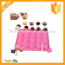 FAD estricto control de calidad Lovely Silicone Cake Pop molde