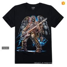 Y-100209 Música Guitarra T-shirt Padrão 3d Metal Rebite luva